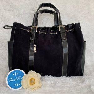 RLR Black Suede Tote bag